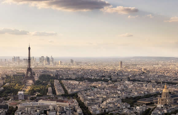 Picture of a view overlooking Paris