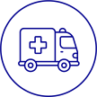 Icon of ambulance